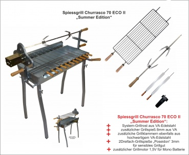 Holzkohlegrill Spiessgrill Churrasco 70 ECO II - Summer Edition