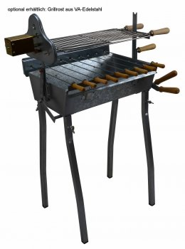 Holzkohlegrill Spießgrill Churrasco 50 mit Grillmotor GT3