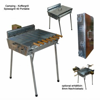 Holzkohlegrill Spiessgrill Portable 40