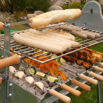 Holzkohlegrill Spießgrill Churrasco 50 mit Rost