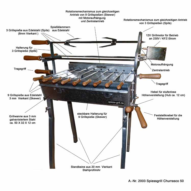 rotisserie barbecue grill churrasco 50 buy bbq grills. Black Bedroom Furniture Sets. Home Design Ideas
