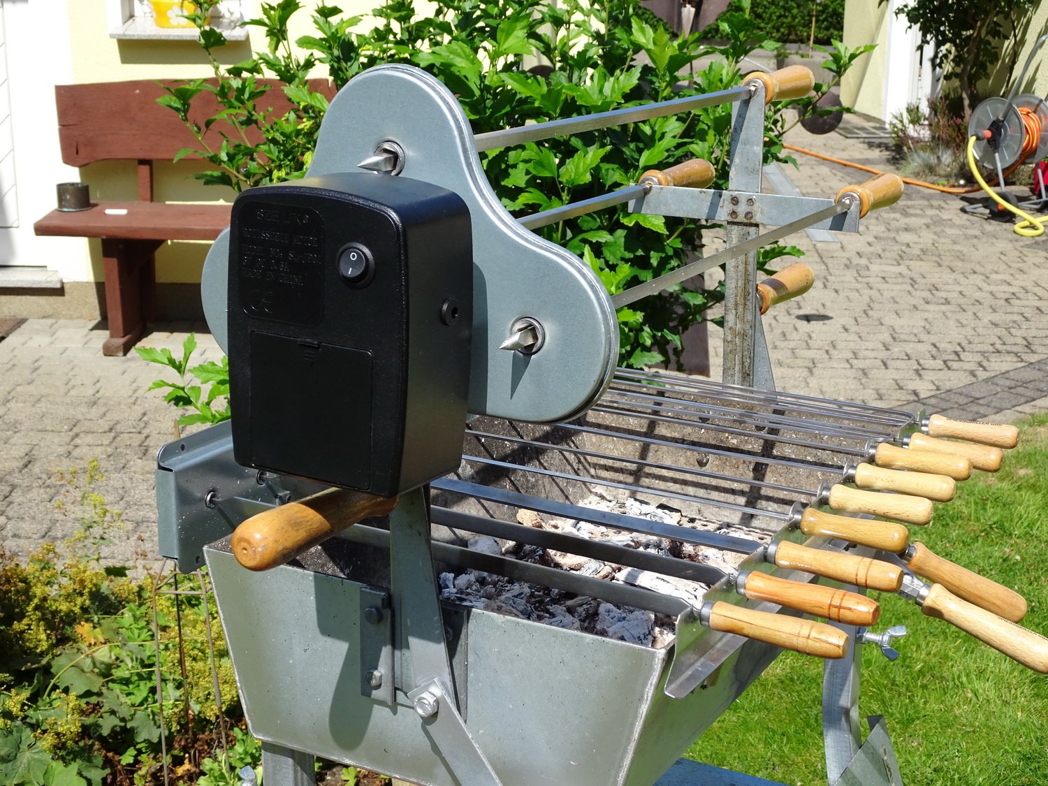Gas Holzkohlegrill Kombi : Bbq holzkohlegrill barbecue smoker grill grillwagen