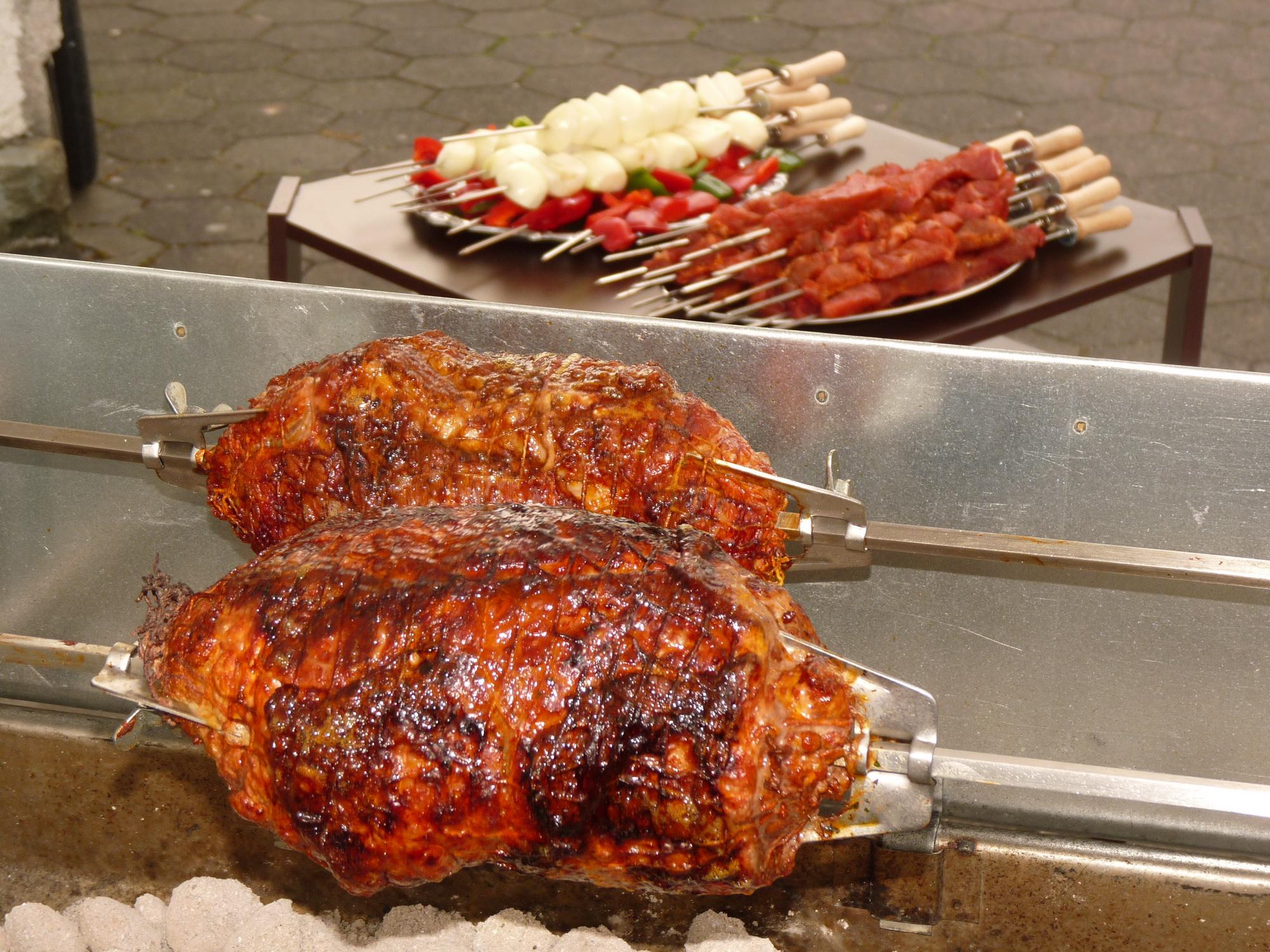 Churrasco Radizio Fleischklammer aus Edelstahl für 6-8 mm Grillspieße