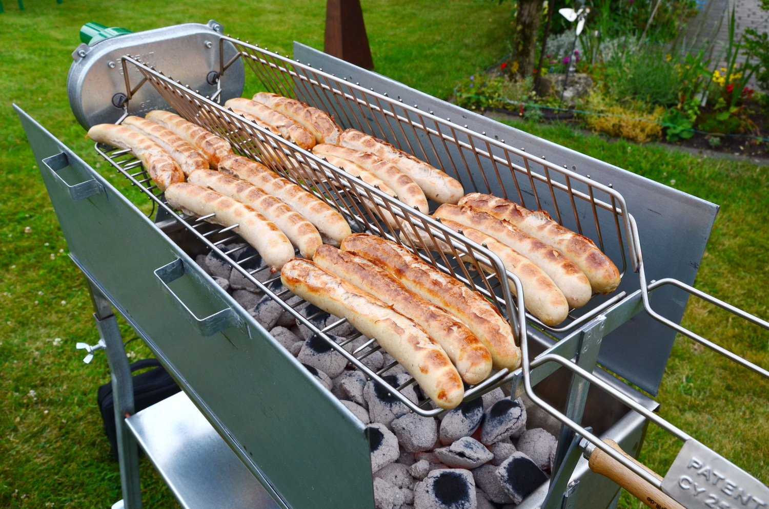 Automatic broiler and bbq system 70 100cm buy bbq grills online in germany - Grille barbecue 70 x 40 ...