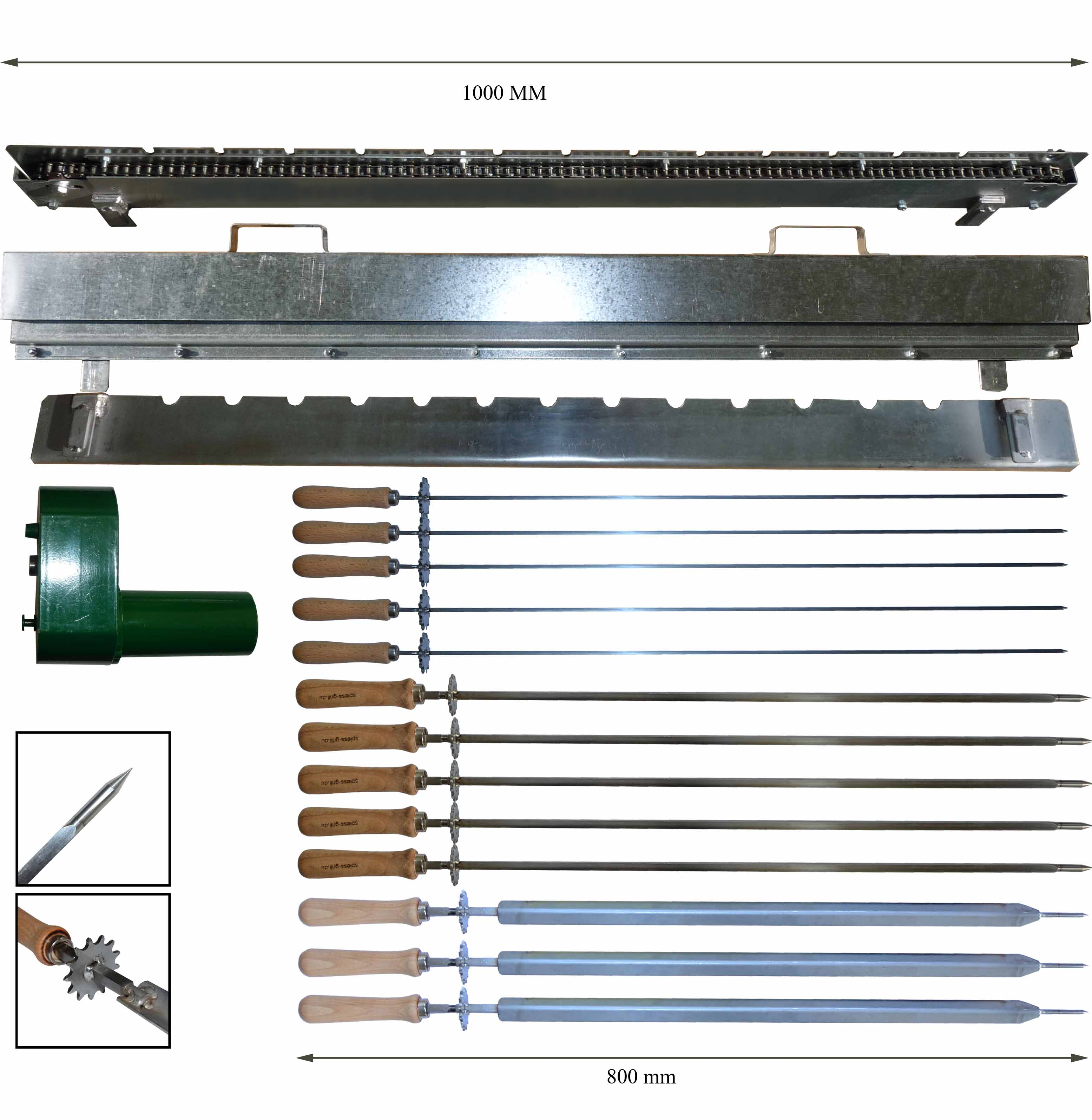 bbq upgrade kit chain drive up to 13 bbq spits buy bbq. Black Bedroom Furniture Sets. Home Design Ideas