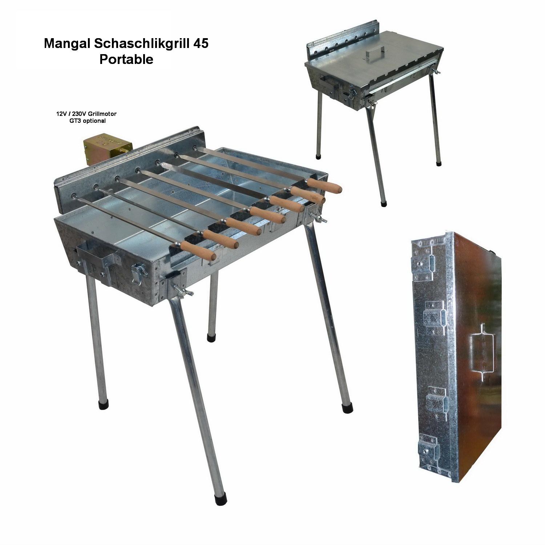 mangal schaschlik grill 45 mit elektromotor online kaufen spiess holzkohlegrills. Black Bedroom Furniture Sets. Home Design Ideas
