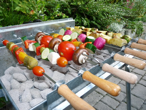 vegetarisch grillen mit dem vegetarier holzkohlegrill online kaufen spiess. Black Bedroom Furniture Sets. Home Design Ideas