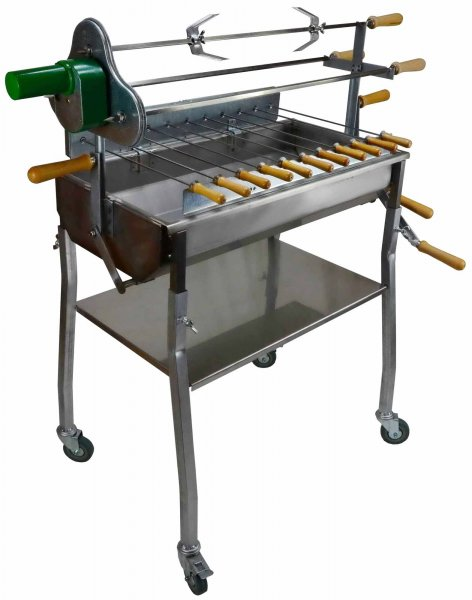 Rotisserie barbecue grill churrasco 70 pro stainless buy barbecue grills on - Grille barbecue 70 x 40 ...